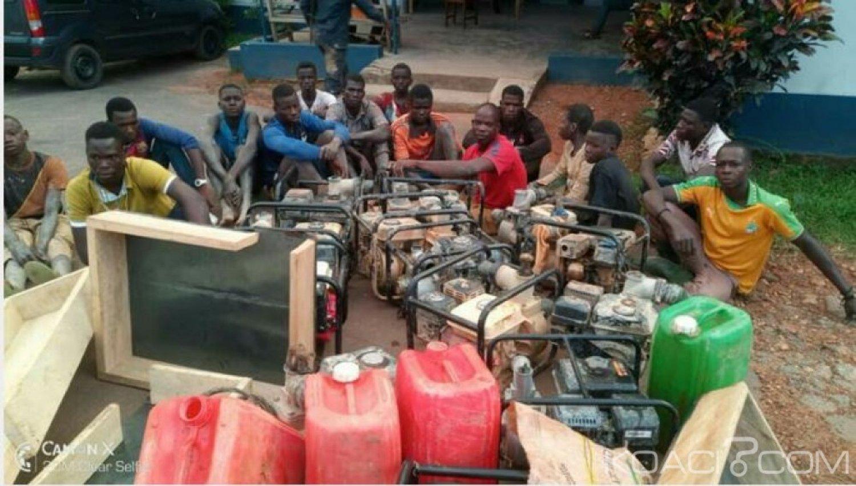 Côte d'Ivoire: Lutte contre l'orpaillage clandestin, des sites démantelés et des personnes interpellées à Adzopé
