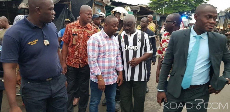 Côte d'Ivoire : Incendie au marché de Port-Bouët, Emou sur les lieux pour évaluer l'ampleur des dégà¢ts, une cellule de crise pour déterminer les causes réelles