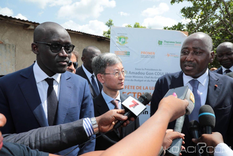 Côte d'Ivoire : Yamoussoukro, Gon Coulibaly pose la première pierre du deuxième Dispatching national financé à plus de 25 milliards de FCFA par la BEI