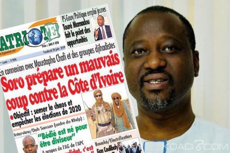 Côte d'Ivoire: Accusé d'être en connexion avec des djihadistes pour déstabiliser le pays, Soro porte plainte contre un media