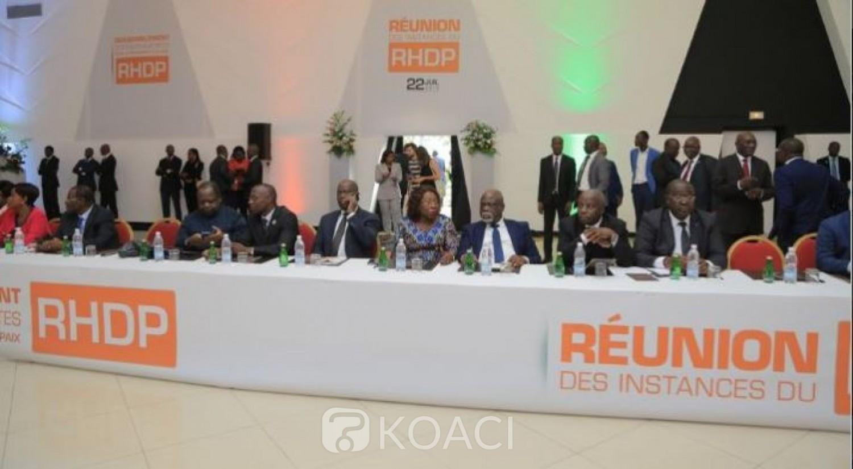 Côte d'Ivoire : RHDP, voici les attributions du Conseil National, Bureau Politique, Directoire et coordinations