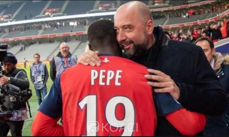 Côte d'Ivoire: Le président de Lille satisfait de l'offre du Napoli pour Nicolas Pépé