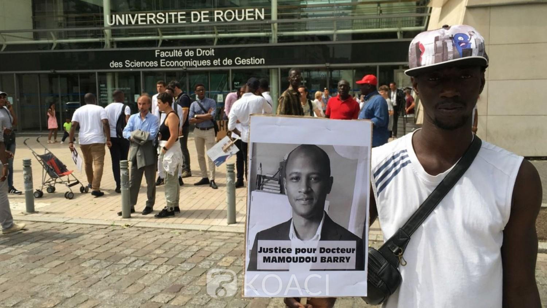 Guinée-France:  Marche en hommage au chercheur Mamoudou Barry à Rouen, la famille réclame justice
