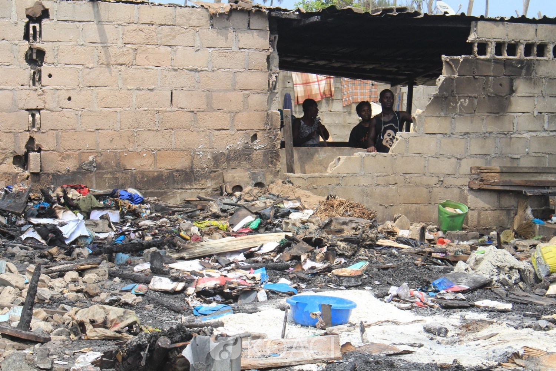 Côte d'Ivoire: Drame, à Port-Bouët, plus d'une dizaine de maisons ravagées par un terrible incendie