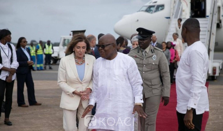 Ghana-USA: Nancy Pelosi à Accra pour des discussions de haut niveau