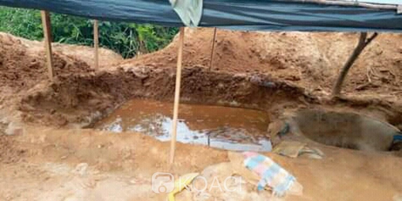 Côte d'Ivoire: Daoukro, situé en pleine ville, un site d'orpaillage clandestin démantelé par la BRICM