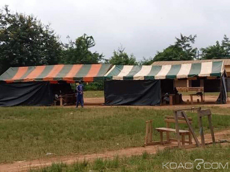 Côte d'Ivoire : Par manque de salle de classe, des candidats au CEPE composent sous des bà¢ches dans une localité de Bangolo