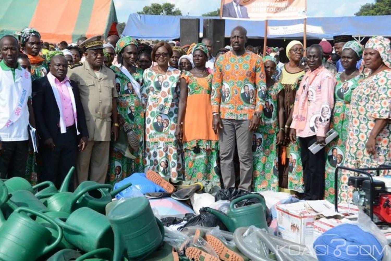Côte d'Ivoire : Depuis Youndouo, le Bounkani reconnaissant aux actions de Ouattara lui réaffirme son soutien ainsi qu'au RHDP
