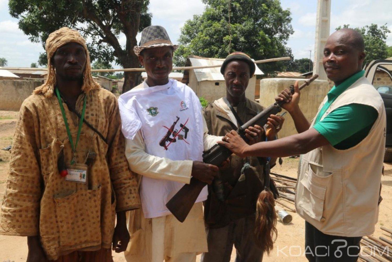 Côte d'Ivoire : Plusieurs armes et munitions collectées dans les localités de Séguélon, Tiémé, Gbonga et Tiensekoroni