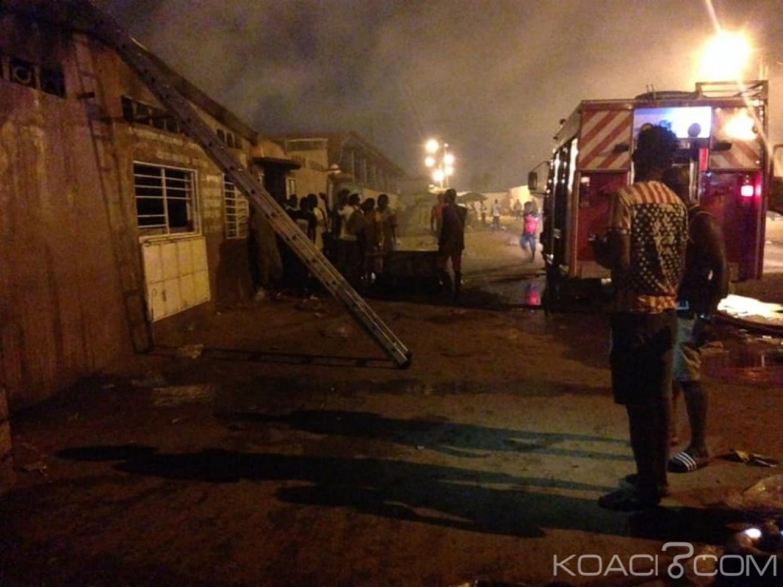 Côte d'Ivoire : L'abattoir de Port-Bouët part en feu, le maire sur les lieux pour évaluer les dégà¢ts