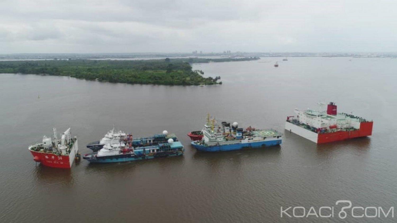 Côte d'Ivoire: Opération inédite de manutention et de chargement d'un navire semi submersible au Port d'Abidjan