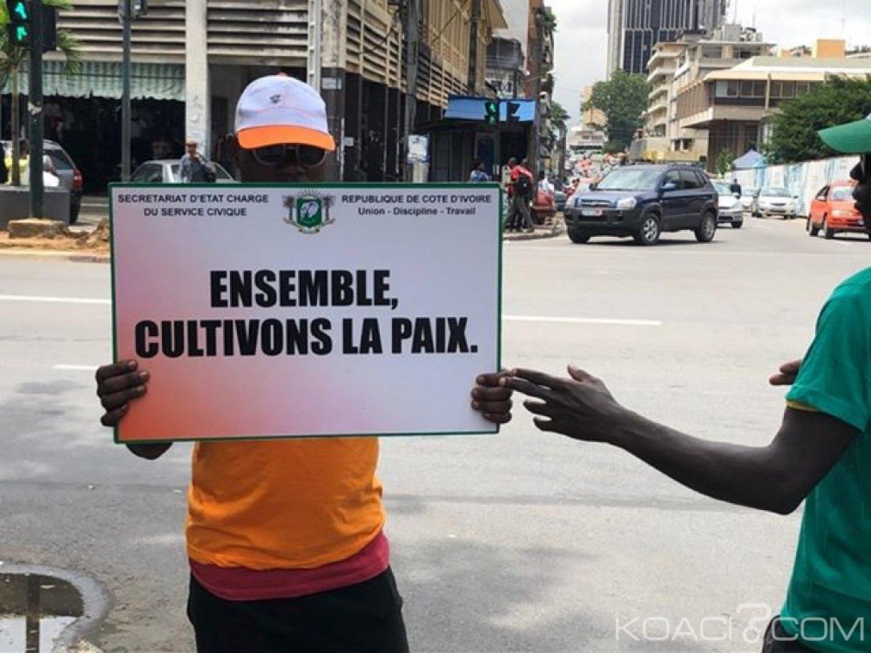 Côte d'Ivoire : Civisme et citoyenneté, le Secrétariat d'Etat chargé du Service Civique «inonde» le district d'Abidjan de messages de sensibilisation