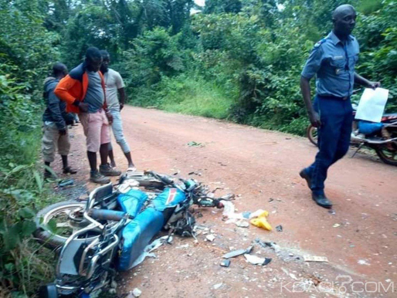Côte d'Ivoire : À Toulepleu, deux motos entre en collision, les conducteurs dans un état grave