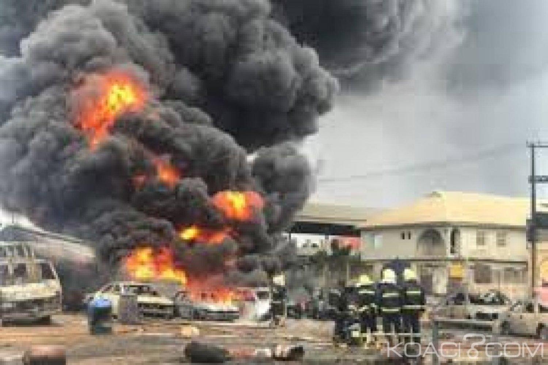Nigeria:  12 morts dans l'explosion d'un oléoduc détourné par des voleurs à Lagos