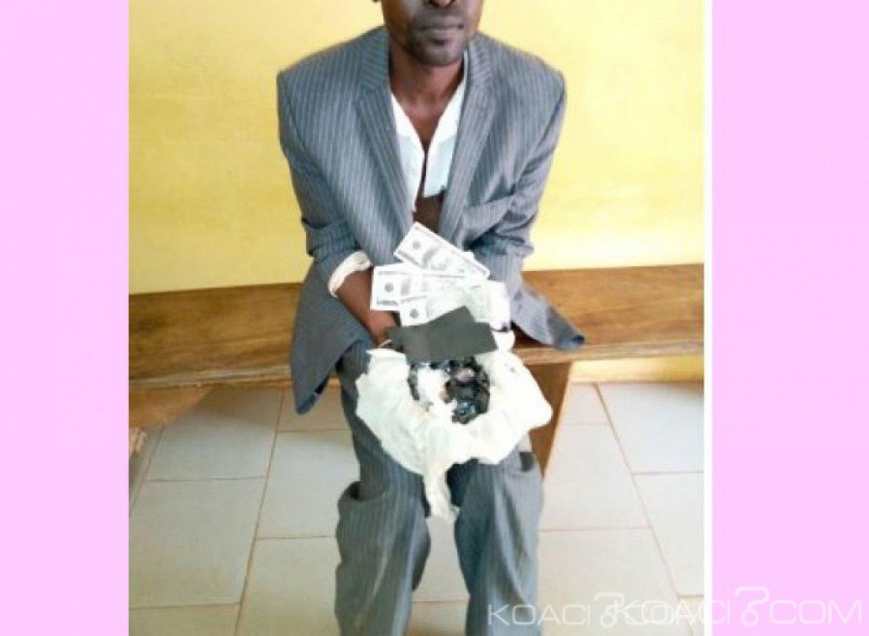 Côte d'Ivoire : Un individu pris en possession de fausses pierres d'or et faux billets dans un minicar