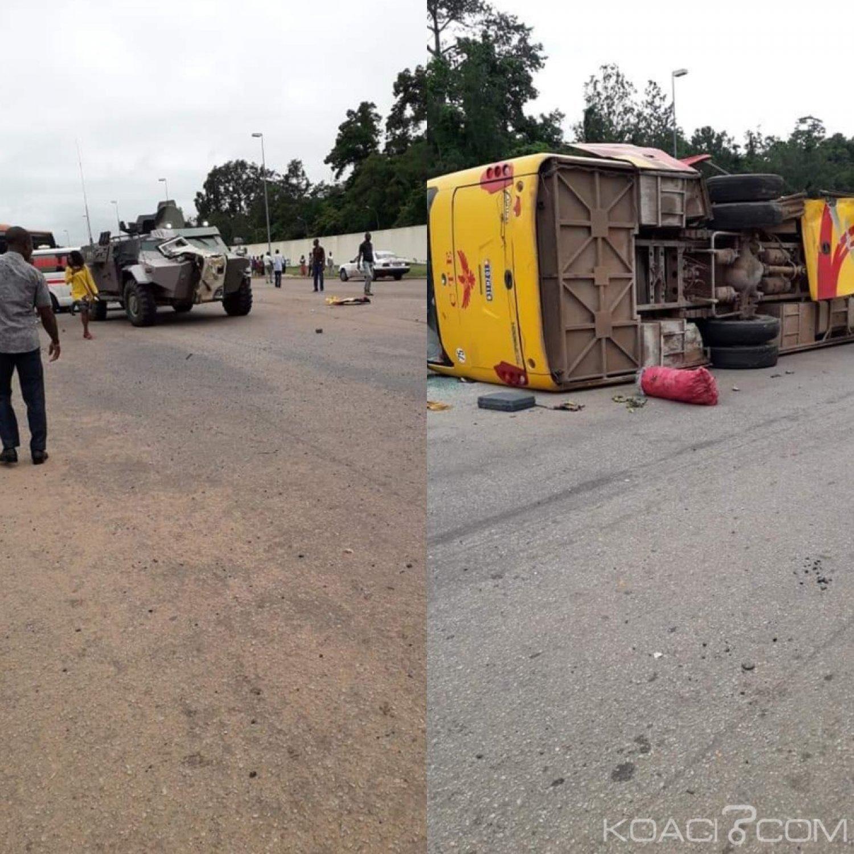 Côte d'Ivoire: Grosse collision entre un blindé  militaire  et un car à Yamoussoukro, des blessés graves
