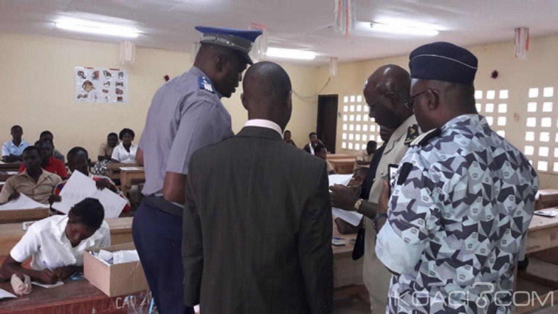 Côte d'Ivoire : Bac 2019, un policier affecté à la surveillance se fait voler ses portables pendant  la fouille des candidats à l'entrée d'un centre