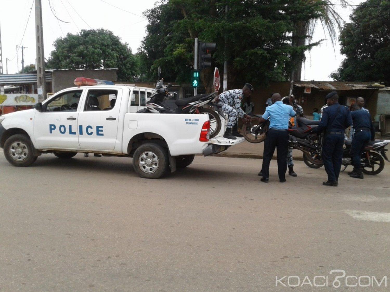 Côte d'Ivoire : Les engins à deux et trois roues non réglementés traqués par Tuo Fozié, les carrefours verrouillés par les hommes en armes