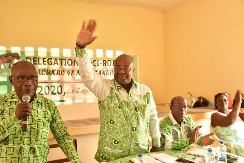 Côte d'Ivoire : 2020, à Daoukro, Olivier Akoto appelle les militants du PDCI à la vigilance et à la mobilisation pour leur victoire