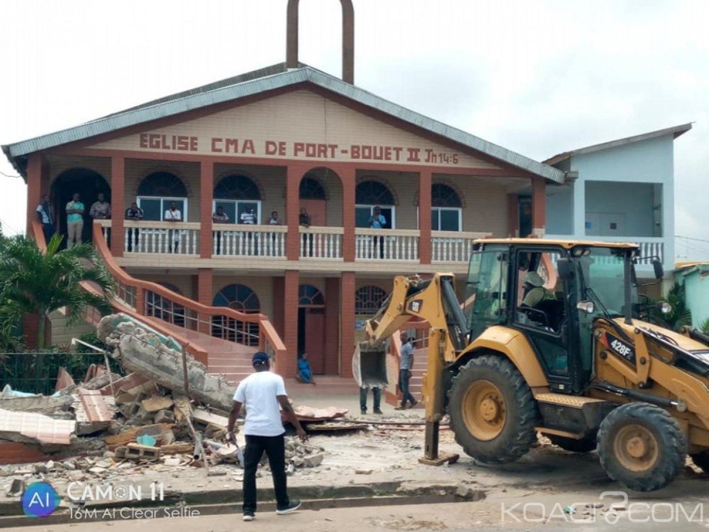 Côte d'Ivoire : A Yopougon, démolition de la clôture d'une église par les services de la mairie