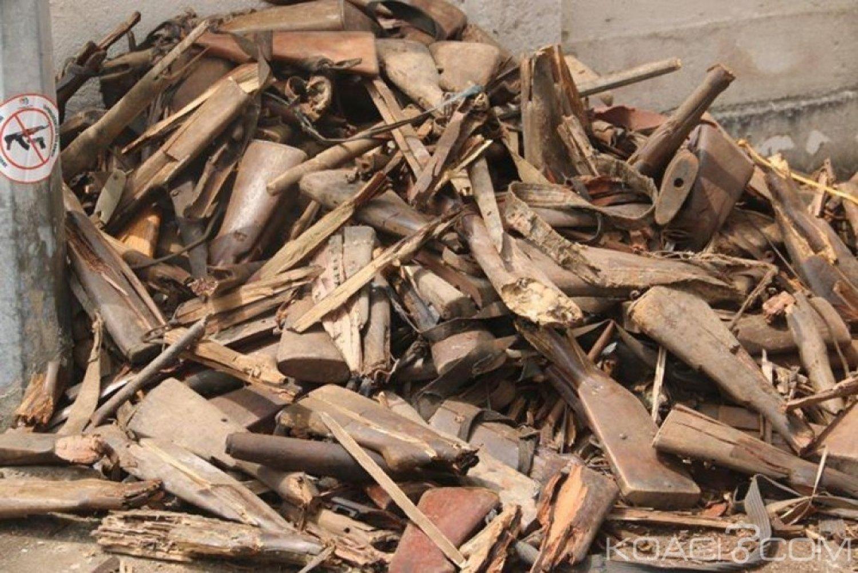 Côte d'Ivoire : Une opération de destruction d'armes au 1er Bataillon d'Infanterie d'Akouédo par la ComNat-ALPC