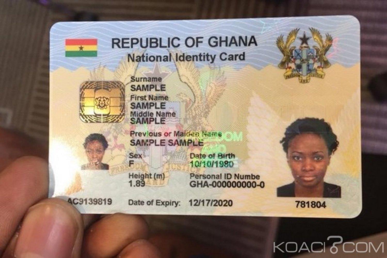Ghana : Carte d'identité pour non-ghanéens à 120 dollars