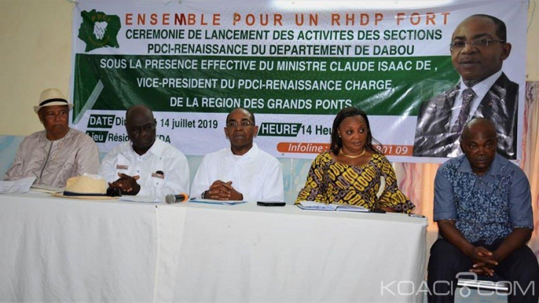 Côte d'Ivoire : Dabou, à quelques mois de 2020, 61 Secrétaires de sections du PDCI et leurs bureaux optent pour le RHDP