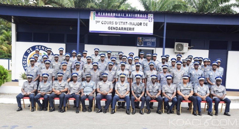 Côte d'Ivoire : Gendarmerie, des cours d'Etat-Major ouverts afin d'élever le niveau professionnel des officiers