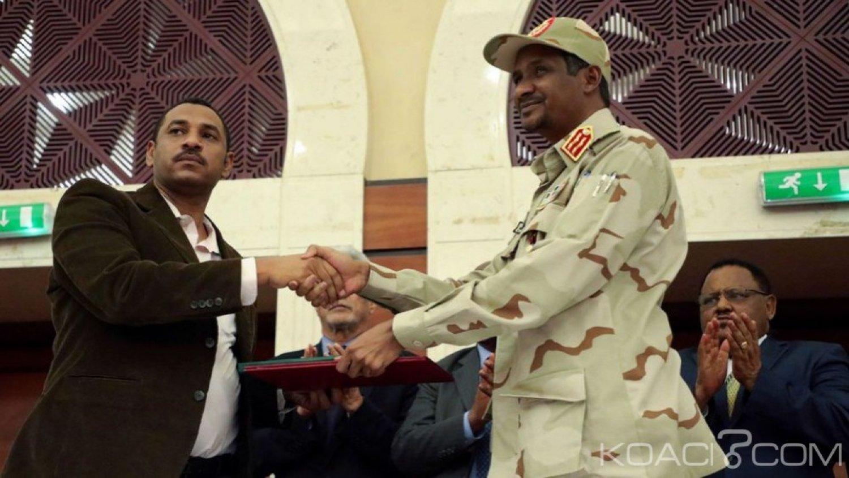 Soudan:  Vers un gouvernement civil, «accord» entre la junte militaire et les chefs de la contestation