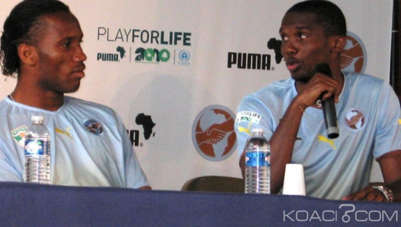 Côte d'Ivoire : Didier Drogba et Samuel Eto'o vont occuper  des fonctions officielles à la CAF