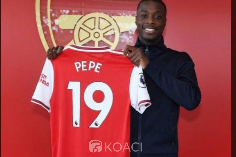 Côte d'Ivoire: C'est enfin officiel pour Nicolas Pépé à Arsenal 52 milliards de FCFA, le plus gros transfert jamais réalisé par un joueur ivoirien
