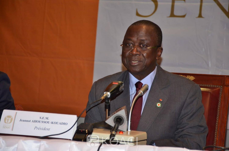 Côte d'Ivoire: Ahoussou encourage Ouattara «à prendre toutes les dispositions utiles afin que les élections à venir se déroulent dans un climat de sérénité»