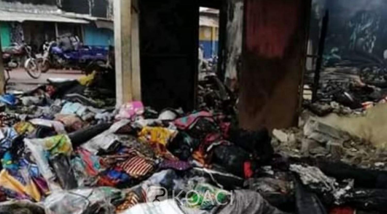 Côte d'Ivoire: En pleine fête de Tabaski dans le Tonkpi, un magasin de pagne à Danané et une pharmacie à Man ravagés par le feu