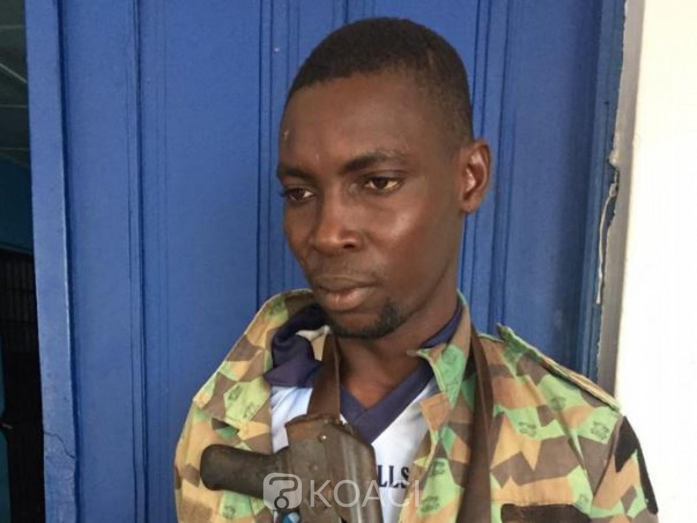 Côte d'Ivoire:   Un ex combattant reconverti braqueur épinglé par la gendarmerie dans le sud-ouest