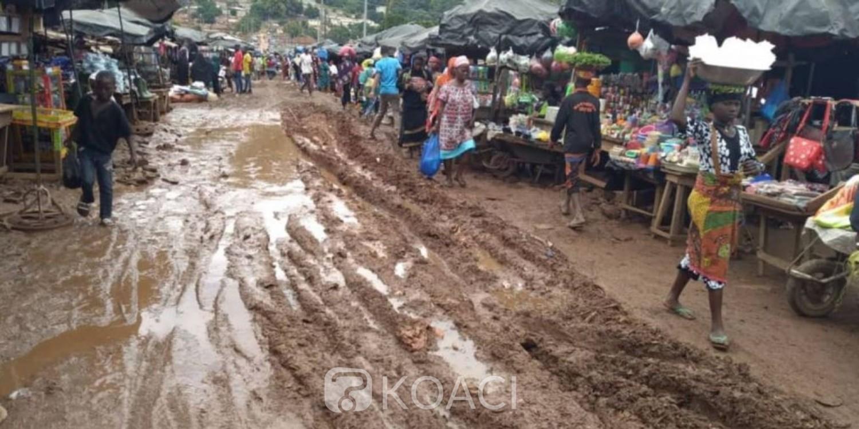 Côte d'Ivoire: A Man, entre calvaire et amertume suite aux pluies, des commerçants interpellent le maire, ils veulent faire une descente à la marie si rien n'est fait