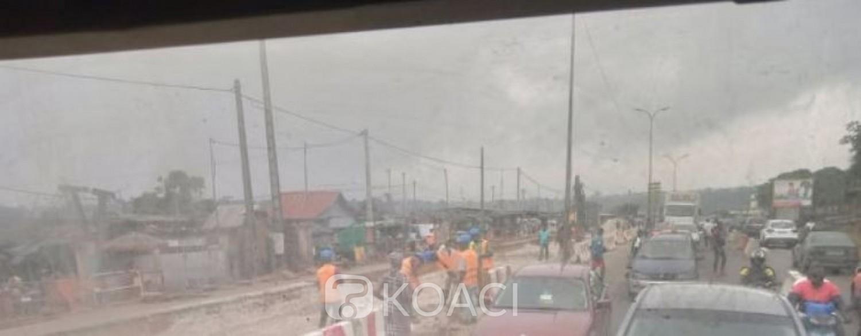 Côte d'Ivoire : Attécoubé, les travaux de déplacement des réseaux du 4è pont et  le calvaire des usagers