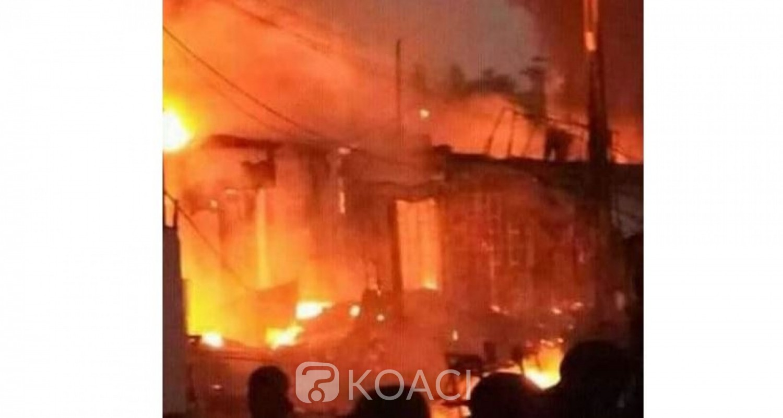 Côte d'Ivoire: A San-Pédro, incendie déclaré au grand marché, des magasins partent en feu