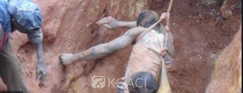 Côte d'Ivoire : Un adolescent orpailleur clandestin  tué dans l'éboulement d'une mine au centre