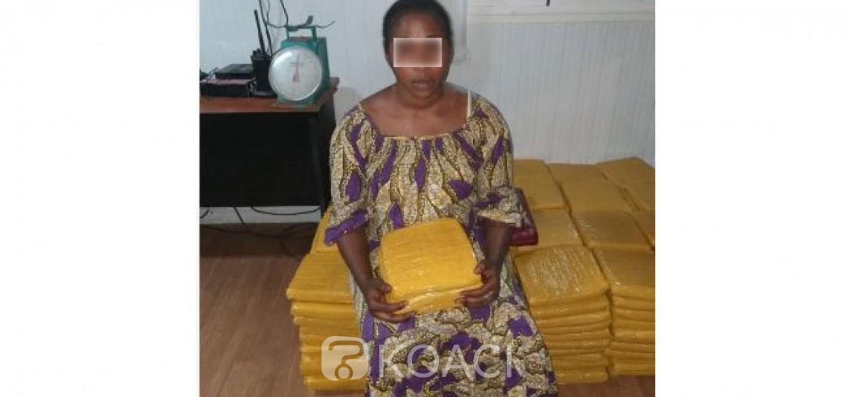 Côte d'Ivoire: Une Dame surprise à son domicile à Abobo avec 240 blocs de Cannabis