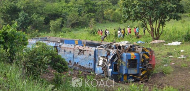 RDC:  Un train déraille et fait 50 morts dans le sud est