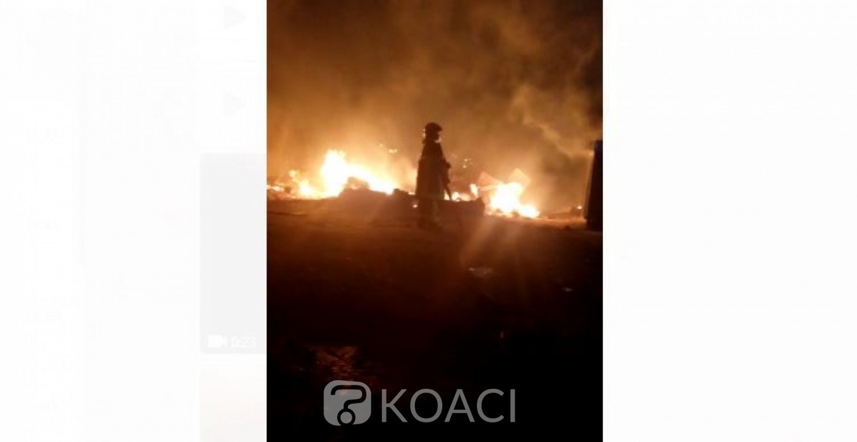 Côte d'Ivoire: À Cocody, un incendie ravage des baraques, des dégâts, un drame évité de justesse, la stratégie Vagondo sauve des vies