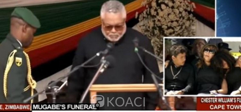 Ghana-Zimbabwe: Hommage et adieux de Rawlings à Mugabe