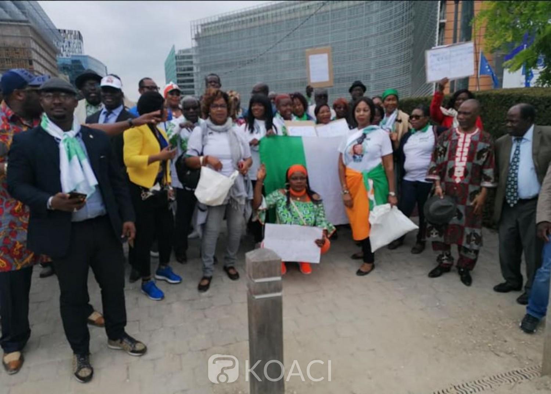Côte d'Ivoire: Des militants du PDCI-RDA ont manifesté ce lundi devant le siège de l'UE à Bruxelles
