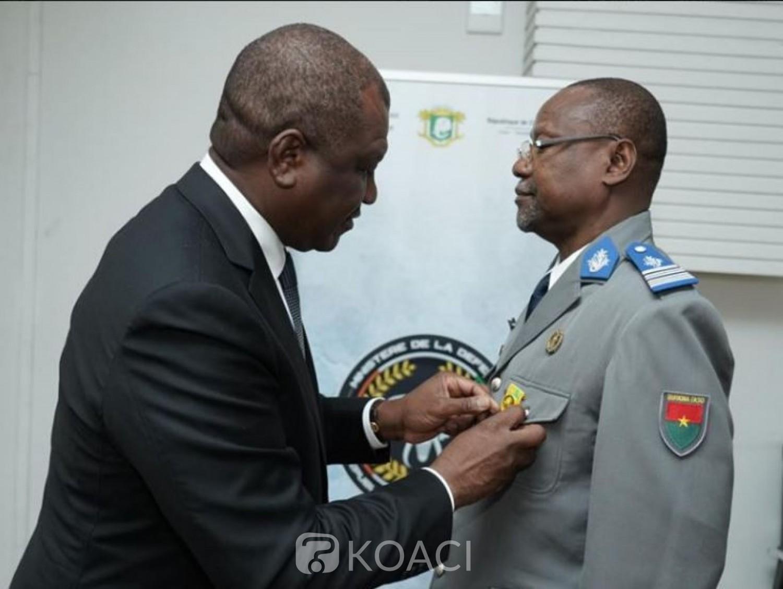 Côte d'Ivoire-Burkina: L'attaché de défense près de l'ambassade du Burkina en fin de mission distingué