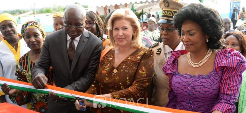 Côte d'Ivoire: Pas de répit pour Dominique Ouattara, fraichement rentrée des USA, elle inaugure et équipe le centre de santé de la cité SOGEFIA de Dimbokro