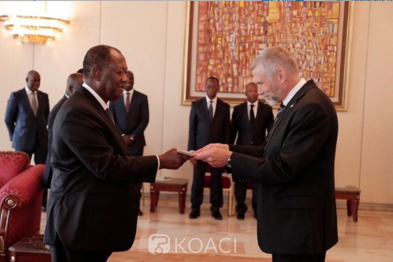 Côte d'Ivoire: Le nouvel Ambassadeur des Etats Unis a présenté ses lettres de créance au chef de l'Etat