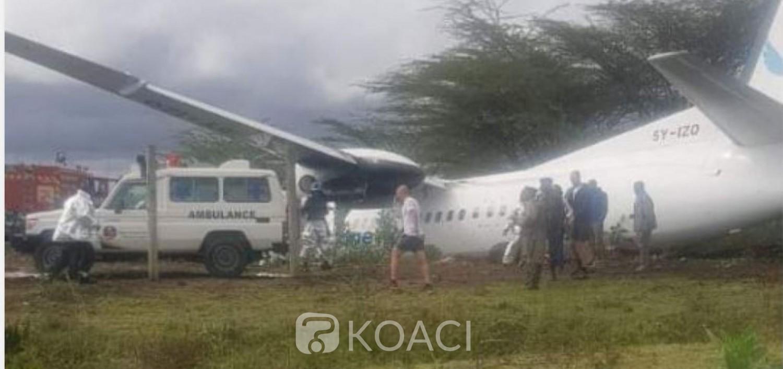 Kenya:   Nairobi, un avion fait  une sortie de piste au décollage, deux blessés