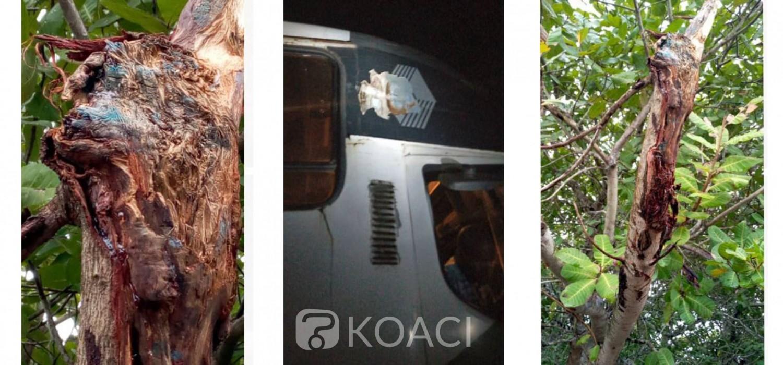 Côte d'Ivoire : Après l'impact reçu par un car sur l'axe Bouaké-Brobo, le Commandant de Brigade fait des précisions