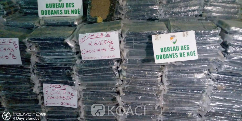 Côte d'Ivoire :  Noé, 2,6165 tonnes de résine de cannabis en provenance du Ghana dissimulées dans un camion malien