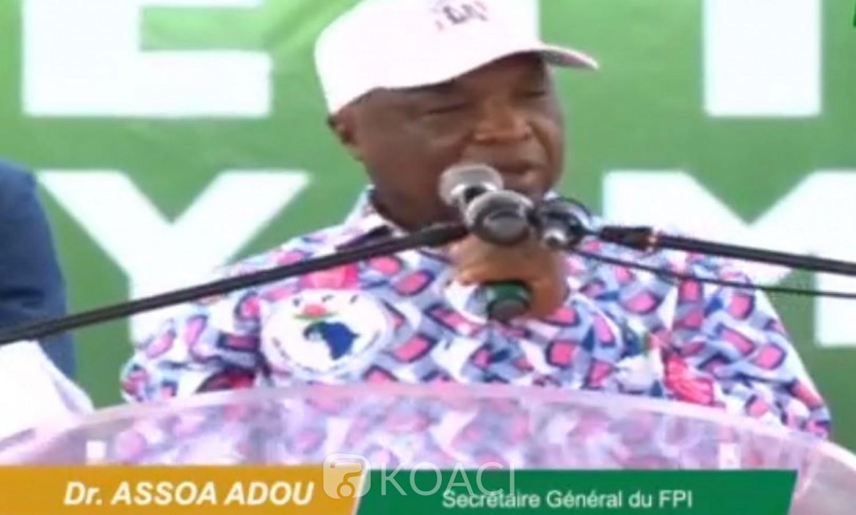 Côte d'Ivoire: Depuis Yamoussoukro, Assoa Adou appelle à la mobilisation de toutes les forces pour sauver le pays